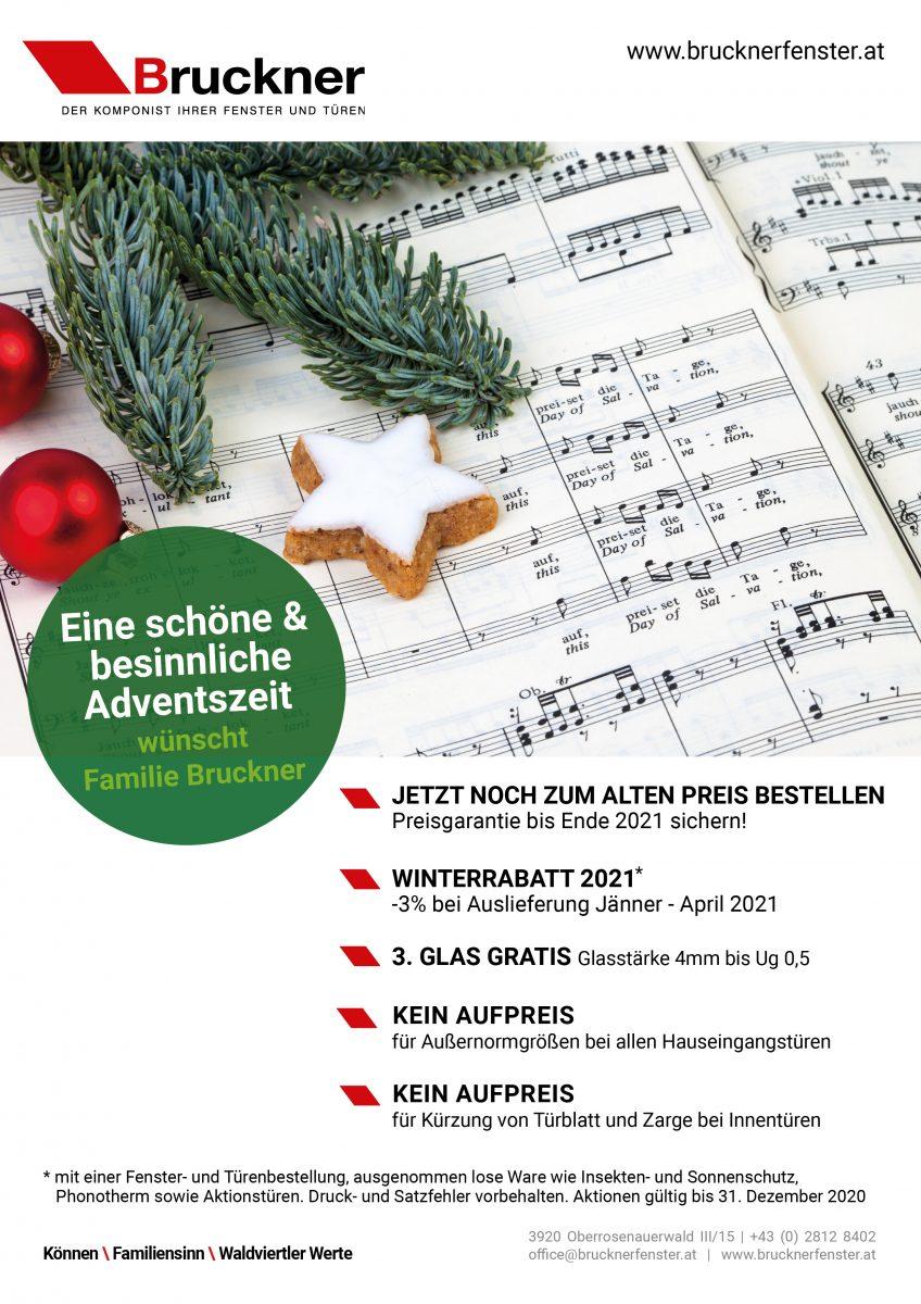Bruckner Wien - Unsere Aktionen im Dezember