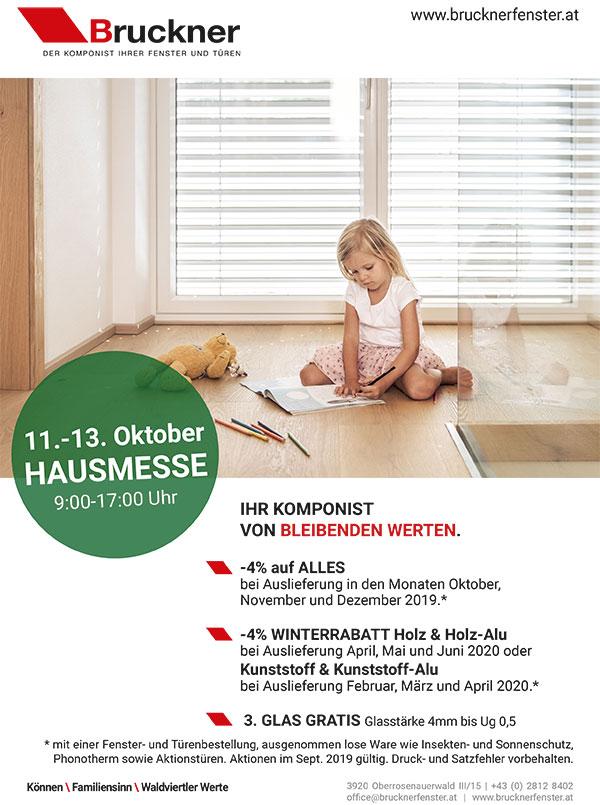 Bruckner Wien - Unsere Aktionen im September